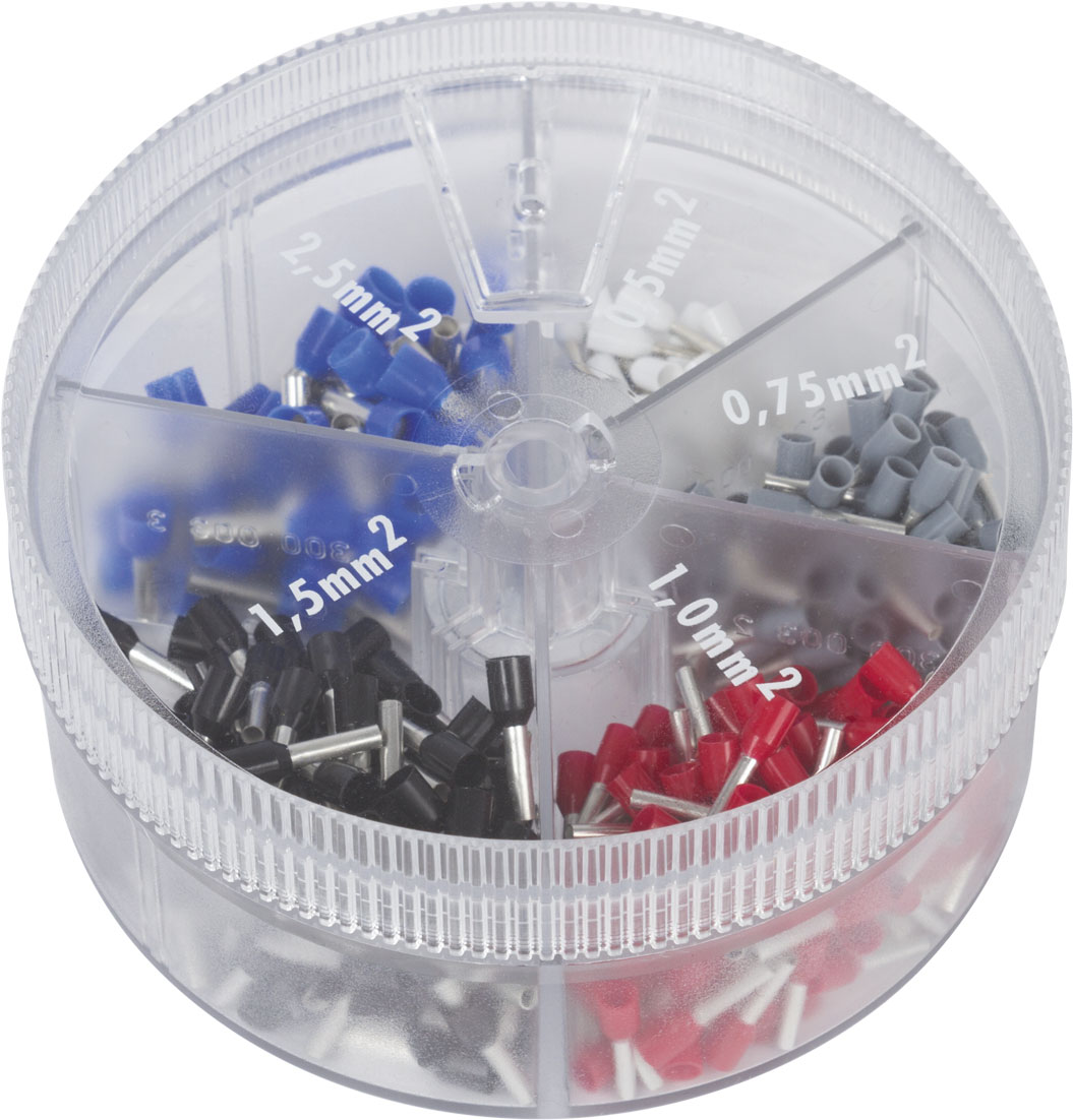Ferrules in assortment box