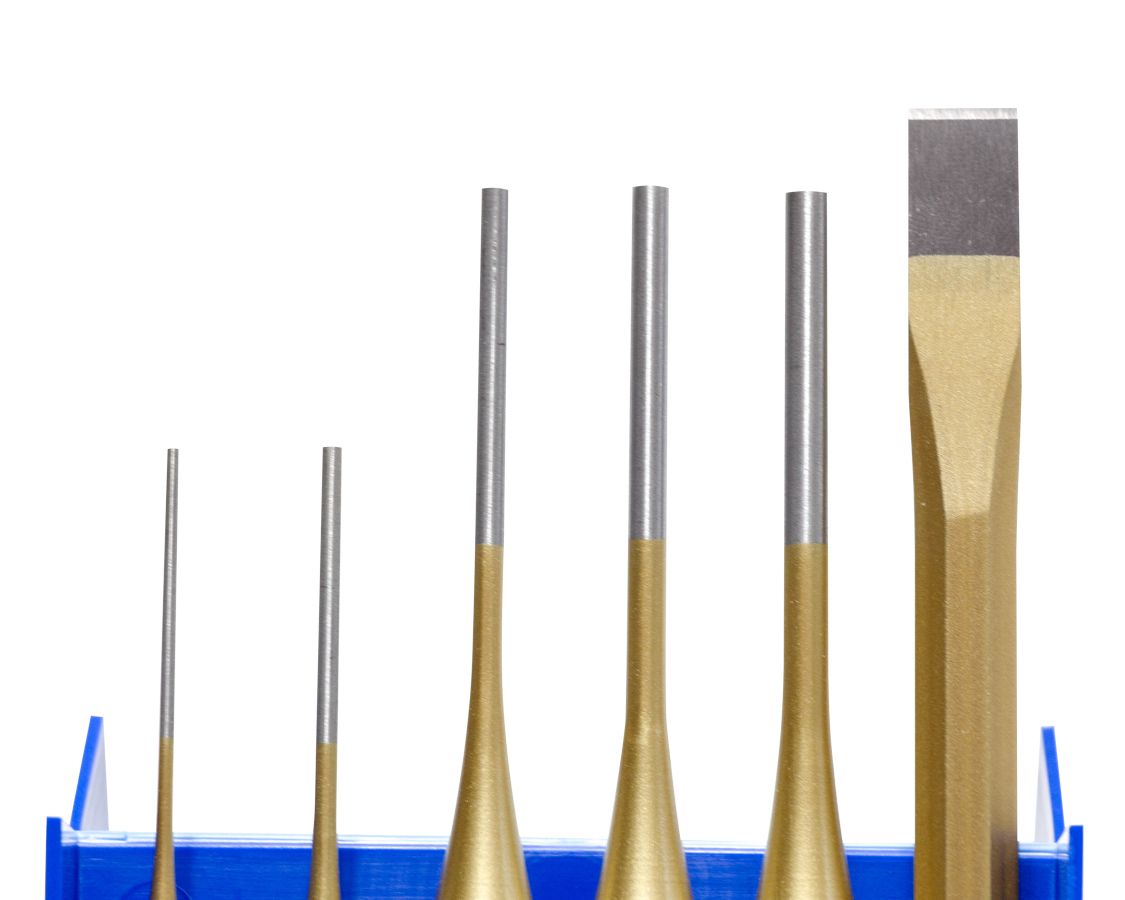 6 Piece Industrial Punch & Chisel Set
