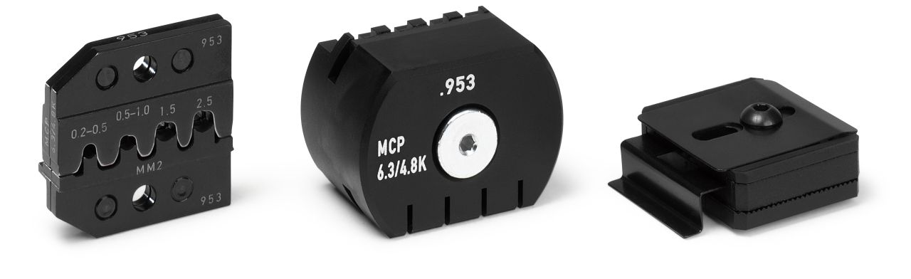 CRIMP DIE SET for MCP 4.8 mm and SPT, Cable Range 0.20 - 2.50 SQ-MM